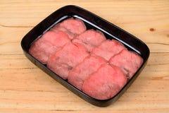 Круг сырцовой говядины верхний стоковое фото rf