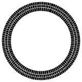 Круг сделанный прямоугольников Скачками круговой элемент Аннотация иллюстрация штока