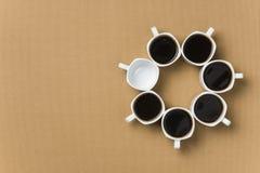Круг сделал кофейные чашки od Стоковые Изображения