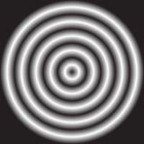 Круг с затеняемым радиальным заполнением градиента Запачканное, defocused circ иллюстрация штока