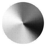 Круг с коническим влиянием градиента полутонового изображения Стоковая Фотография RF
