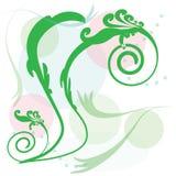 Круг с красочным цветком на белой предпосылке Стоковая Фотография