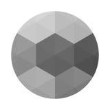 Круг с серым влиянием триангулированием иллюстрация вектора