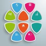Кругл Треугольники Infographic Компания Стоковая Фотография RF