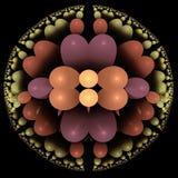 Круг фрактали органических цветов иллюстрация вектора