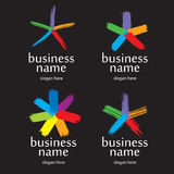 Выплеск логоса Стоковое Изображение