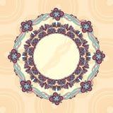 круг шнурка рамки орнаментальный Стоковые Фото