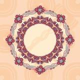 круг шнурка рамки орнаментальный Стоковые Изображения