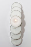 Круглые аранжированные света свечи Стоковые Изображения
