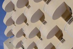 Круглые балконы гостиницы Стоковое фото RF