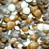 круглые камни Стоковое Изображение RF