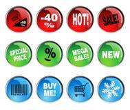 Круглые комплекты значка Стоковое Фото
