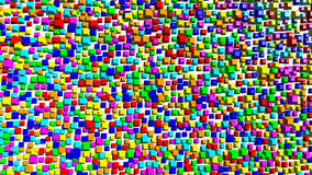 Круглые кубы краев Стоковые Изображения