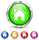 Круглые домашние значки иллюстрация штока