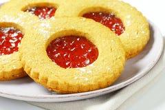 Круглые печенья Linzer Стоковое Изображение