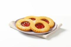 Круглые печенья Linzer Стоковые Изображения