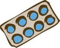 Круглые пилюльки в пакете волдыря Стоковое фото RF