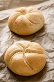 Круглые плюшки сандвича Стоковое Изображение RF