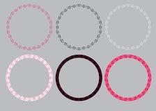 Круглые рамки с сердцами иллюстрация штока