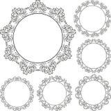 Круглые рамки Стоковая Фотография RF