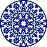Круглый голубой орнаментальный элемент, вектор Стоковое фото RF