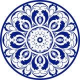 Круглый голубой орнаментальный элемент, вектор Стоковая Фотография RF