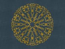 Круглый дизайн штофа золота Стоковое Фото