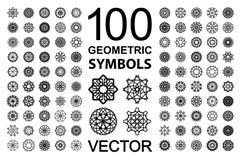 Круглый комплект орнамента Стоковые Фото