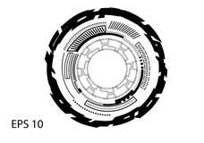 Круглый логотип на белой предпосылке Стоковая Фотография RF