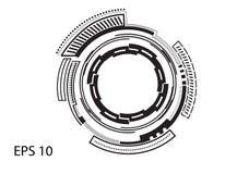 Круглый логотип на белой предпосылке Стоковое Изображение RF