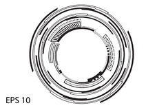 Круглый логотип на белой предпосылке Стоковое Изображение