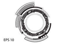 Круглый логотип на белой предпосылке Стоковые Изображения RF