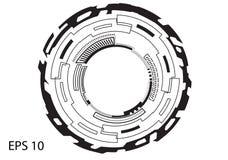 Круглый логотип на белой предпосылке Стоковые Фотографии RF