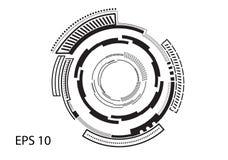 Круглый логотип на белой предпосылке иллюстрация вектора