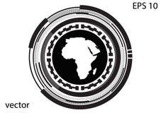 Круглый логотип на белой предпосылке Стоковые Изображения
