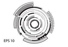 Круглый логотип на белой предпосылке иллюстрация штока