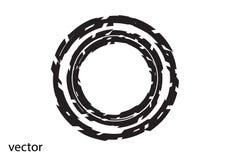 Круглый логотип на белой предпосылке Стоковые Фото