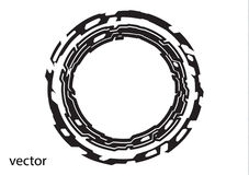 Круглый логотип на белой предпосылке Стоковая Фотография