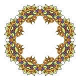 Круглый орнаментальный элемент вектора Стоковая Фотография RF