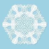 Круглый орнамент на голубой предпосылке иллюстрация вектора