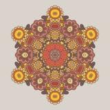 Геометрическая предпосылка/орнамент круга флористический Стоковое Изображение
