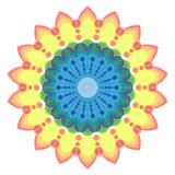 Круглый орнамент, покрашенная мандала Стоковые Фотографии RF