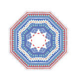 Круглый орнамент с этнической мексиканской картиной Стоковое Фото