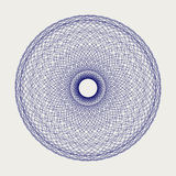 Круглый орнамент шнурка Стоковое фото RF