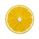 Круглый раздел лимона изолированный на белой предпосылке Стоковые Фотографии RF