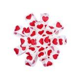 Круглый смычок от сердец ленты Стоковые Фото