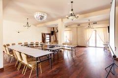 Круглый стол в конференц-зале Стоковая Фотография