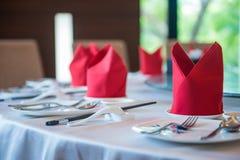 Круглый стол установленный в китайский ресторан Стоковое Фото