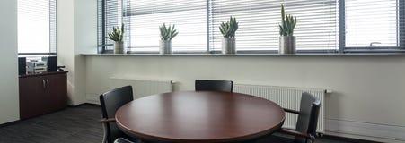 Круглый стол для деловой встречи Стоковые Изображения RF
