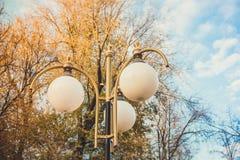Круглый уличный фонарь Стоковое Изображение